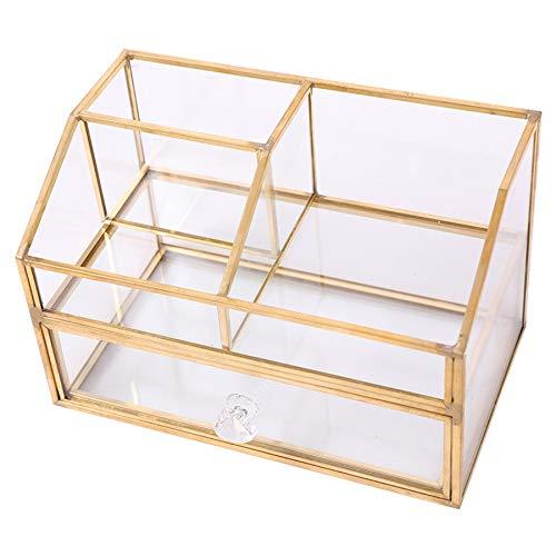 ACAMPTAR Nordisch Metall Glas Kosmetische...