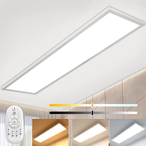 Dimmbar LED Panel Deckenleuchte 120x30 cm mit...