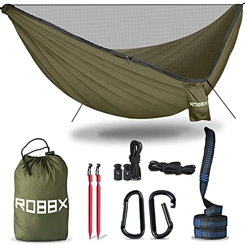 ROBBX® Hängematte Outdoor mit Moskitonetz für 2...