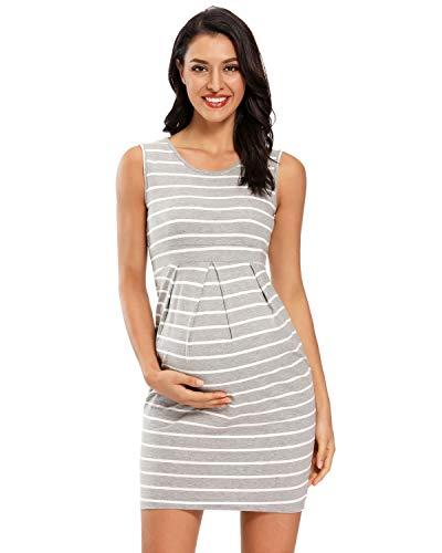 Love2Mi Damen Ärmellos Kleider für Schwangere,...
