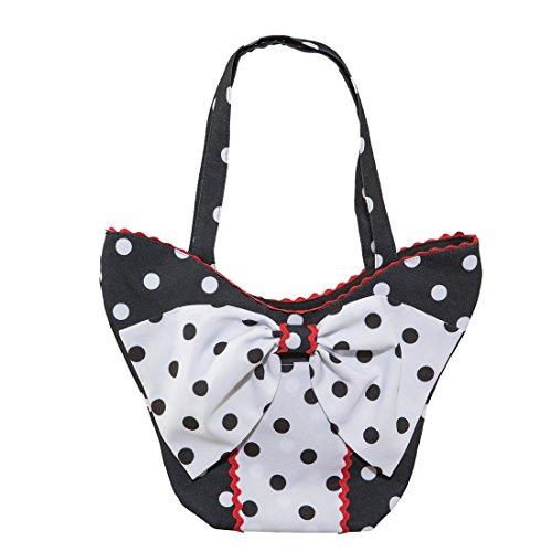 NET TOYS Vintage Tasche Polka Dots Rockabilly...