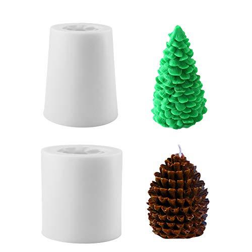 Gukasxi 3D Weihnachtsbaum Kerzenform, 2 Stück...
