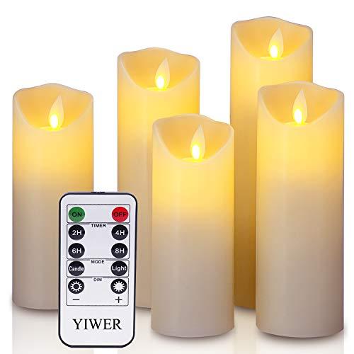 LED Kerzen,Flammenlose Kerzen 12/15/17/20/22CM Set...