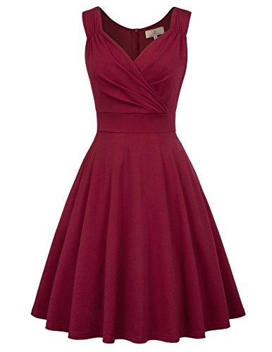 GRACE KARIN 50s Kleid Rockabilly ärmellos...