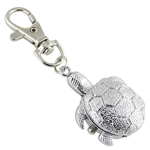 PRINDIY Silberfarbenes Metall Uhr...