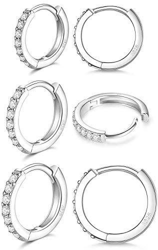 LIHELEI Silber Creolen Ohrringe für Damens, S925...