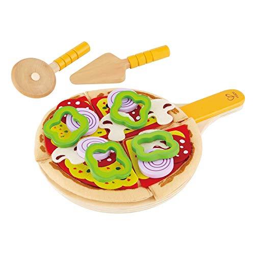 Hape E3129 - Pizza-Set, Zubehör für Kinderküche...
