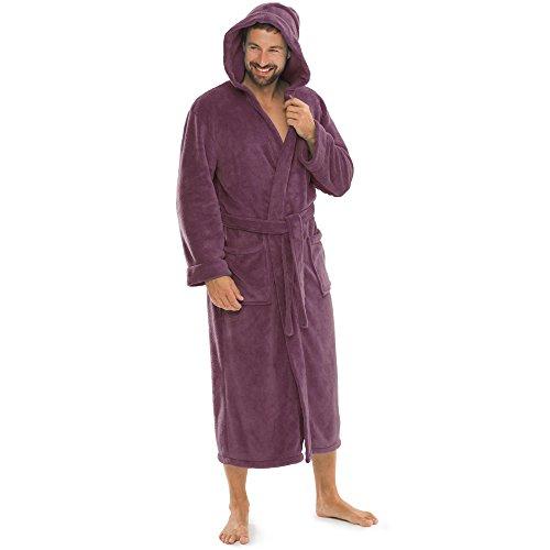 aqua-textil Bademantel Damen Malibu XL pflaume...