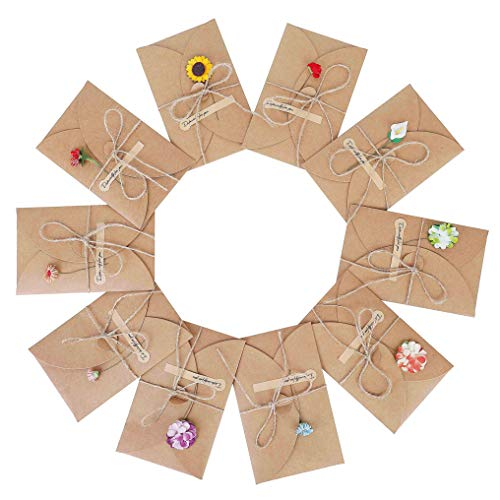 Grußkarten 10 Stück Grußkarte Set Blanko...