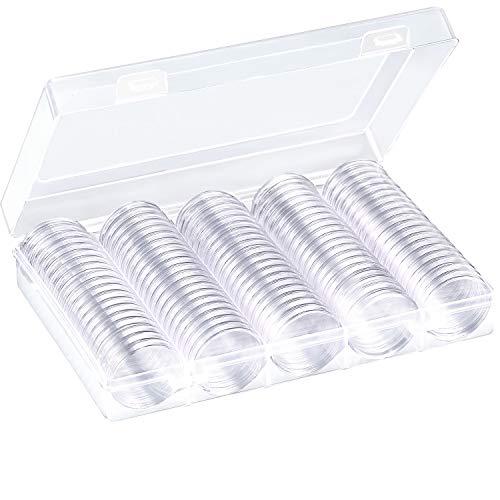 100 Stück Münze Kapseln Runde 30 mm Kunststoff...
