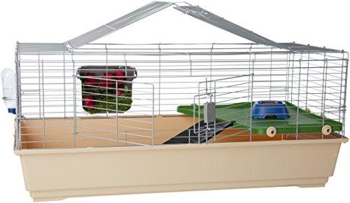 Amazon Basics – Kleintier-Käfig mit Zubehör,...