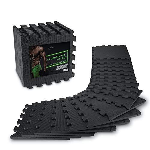 AthleticPro Bodenschutzmatte Fitness [31x31cm] -...