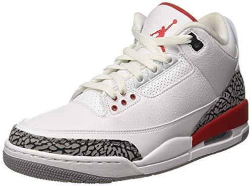 Nike Herren Air Jordan 3 Retro Katrina Weiß Leder...