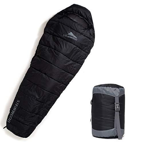 Steinwood Premium Schlafsack koppelbar extra breit...