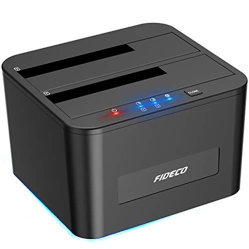 FIDECO Festplatten Dockingstation, USB3.0 SATA HDD...