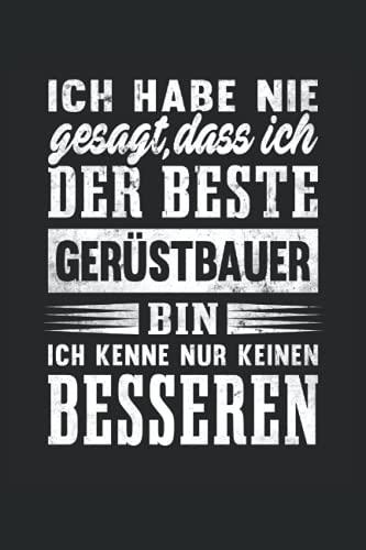 Bester Gerüstbauer Notizbuch (liniert) Handwerker...