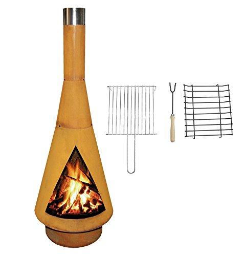 YERD Corten Terrassen-Ofen/Grill-Kamin Denver BBQ:...
