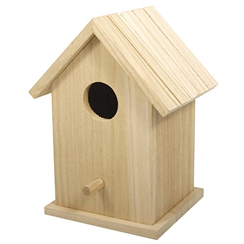 Rayher 62291000 Holz Vogelhaus Box, FSC...