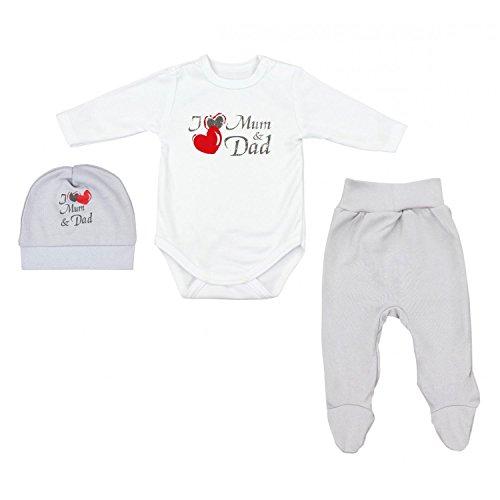 TupTam Baby Unisex Bekleidungsset mit Aufdruck 3...