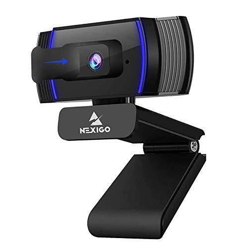 NexiGo Autofokus 1080P Webcam mit Software, Stereo...