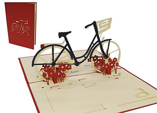 LIN-POP UP 3D Grußkarten Fahrrad,...