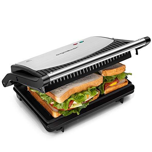 Aigostar Sandwichmaker 800W, Grilltoaster, Panini...