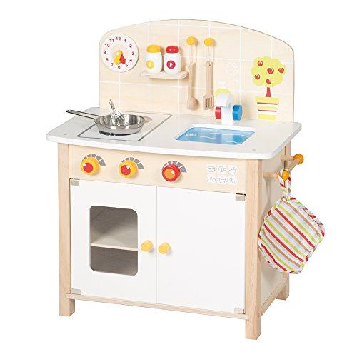 roba Spielküche, Holz Kinderküche weiß/natur,...