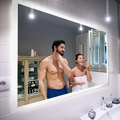 Badspiegel 80x70cm mit LED Beleuchtung - Wählen...