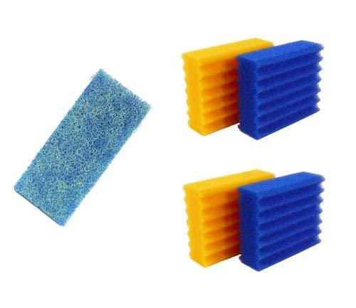 Pondlife 4 STK. Filterschwämme 2 Blaue & 2 gelbe...