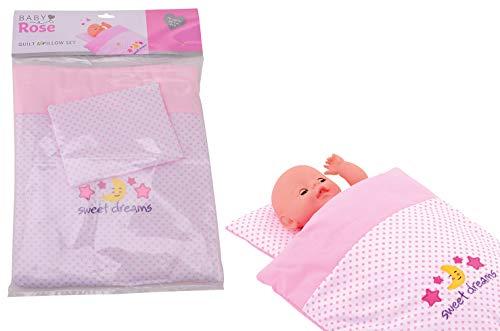 JohnToy 27537 Baby Rose Puppen Decke und...