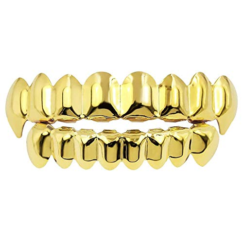 Diealles Shine Gold Grills Hip Hop Teeth Grills...