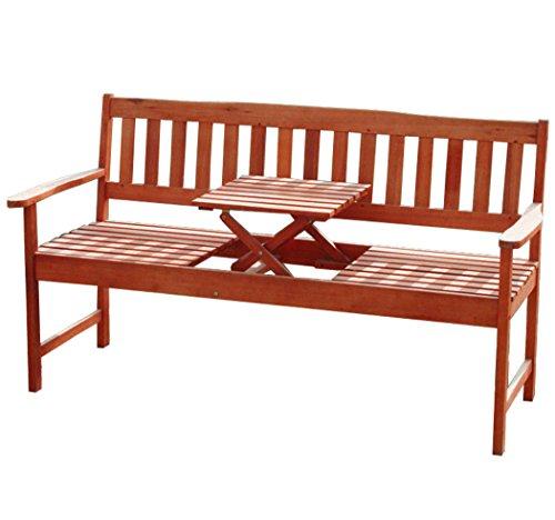 KMH®, 3-sitzer Gartenbank (160 cm) aus...
