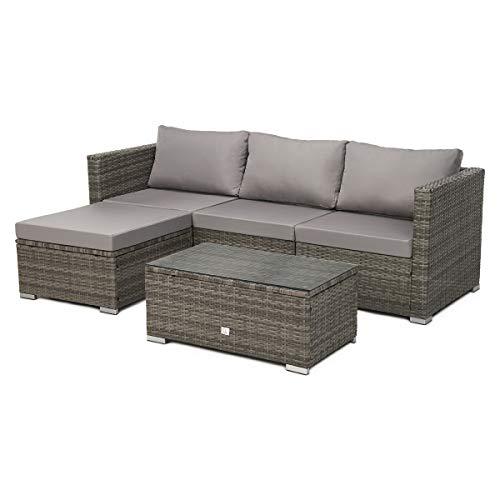 SVITA Queens Poly Rattan Sitzgruppe Couch-Set...