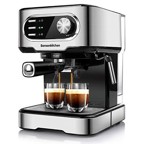 Bonsenkitchen Espressomaschine 15 Bar, für...