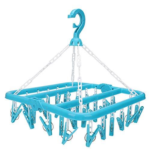 Unterwäsche-Kleiderbügel mit 32 Clips Faltbarer...