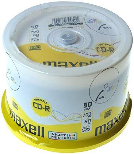 Maxell CD-R Recordable 700MB 80min 52x bedruckbar...