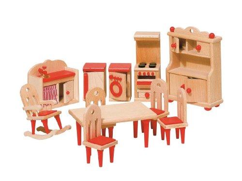 Goki 51951 - Küche, 11-teilig, Puppenhausmöbel