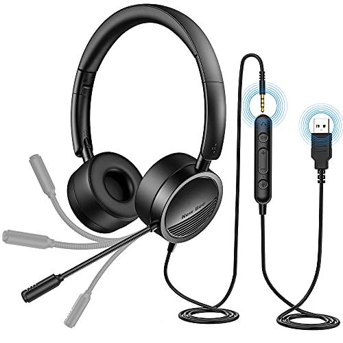 PC Headset mit Mikrofon New Bee USB/3,5mm Business...