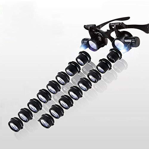 2.5X 4X 6X 8X 10X 15X 20X 25X LED Licht Stirnband...