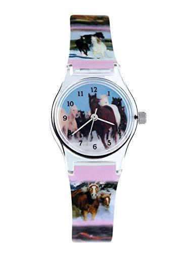 Pacific Time Mädchen Uhr Analog Quarz mit...