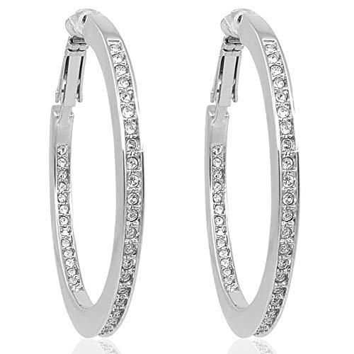 Creolen mit Kristallen von Swarovski® Silber...