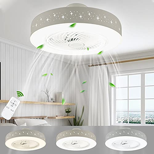 LUTDK 45W LED Deckenventilator Mit Beleuchtung...