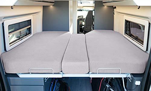 LIVING AIR Wohnmobil Spannbetttuch Set 3 teilig -...