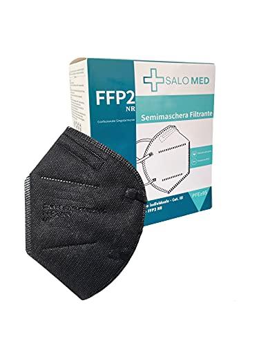 SALO MED 20x Masken FFP2 Schwarz - CE zertifiziert...