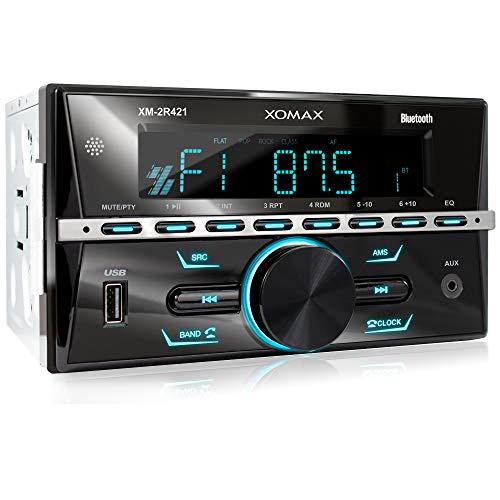 XOMAX XM-2R421 Autoradio mit Bluetooth I RDS I AM,...