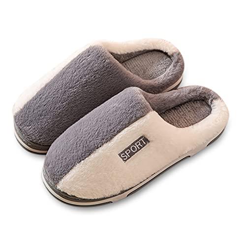 Dasongff Hausschuhe Herren Winter Pantoffeln...