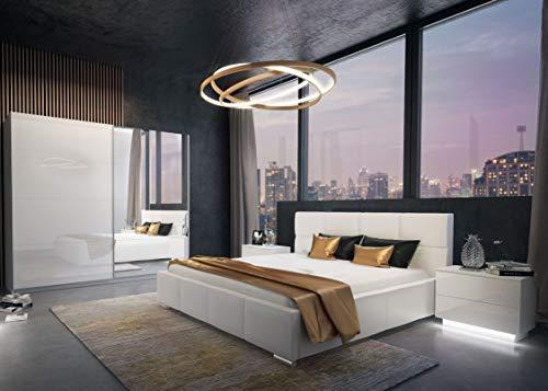 LUK Mebel Schlafzimmer-Set 1 x Polster-Schlafbett...