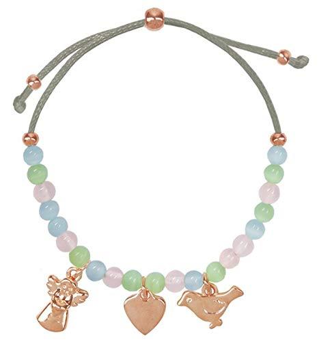 Armband - Armband mit Halbedelstein-Perlen und...