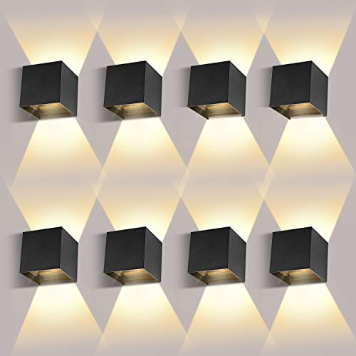 8 Pack LED Wandleuchten Innen/Außen12W Wandlampe...