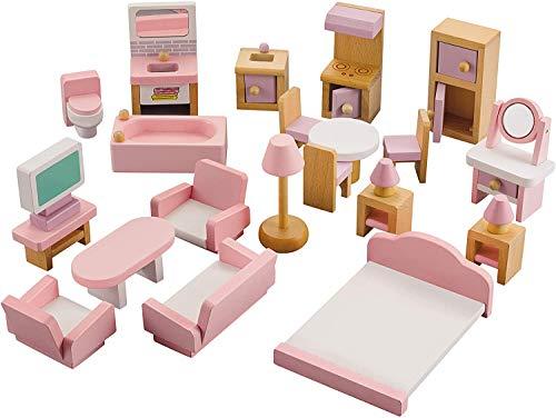NextX Puppenhausmöbel Set Zubehör Puppenhaus...